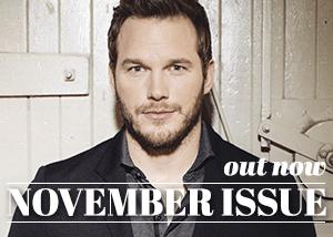 November Issue: Chris Pratt Is a Very Happy Man